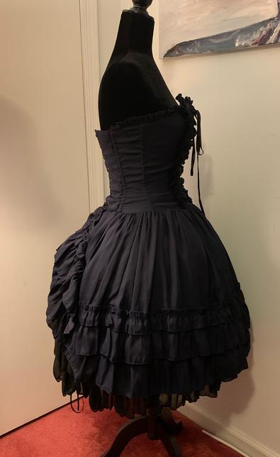 Blue dress side 2