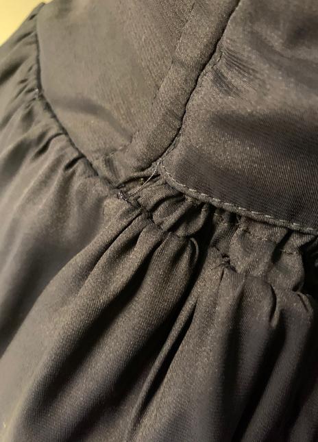 Blue dress loose thread