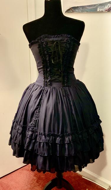 Blue dress front 3