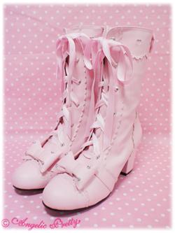 Girlyheartheeledboots pink 0