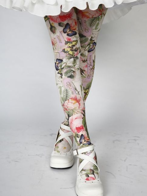 Triple 20fortune 20antique 20rose 20print 20tights 20a