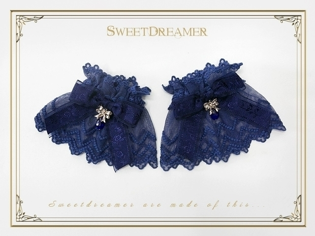Sweet dreamer navy lace wristcuffs