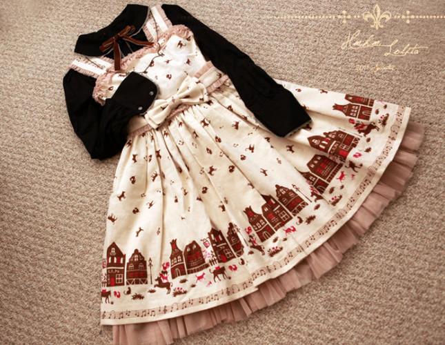 Hmhm red hat ms wolf prints lolita jsk 4 hm 45 20(1)
