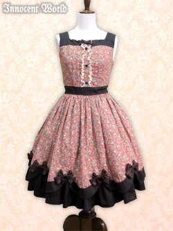 Innocent 20world 20  20cendrillon 20scallope 20jumperskirt 20in 20pink 20x 20chocolate