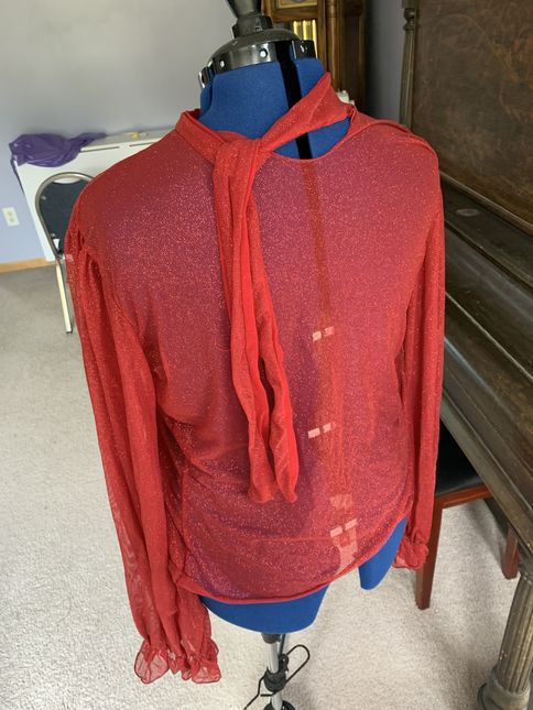 Blouse 20red 20back