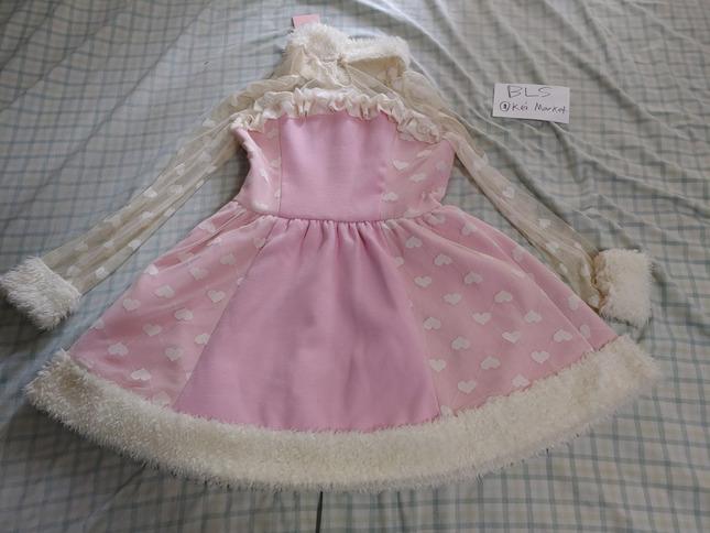 Candy rain pink dress back